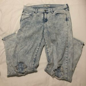 Abercrombie and Fitch Distressed Light Wash Jeans